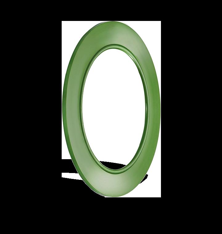 rubber steel gasket green